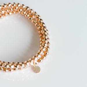 Mini Beaded Bracelet | Rose Gold - elliparr