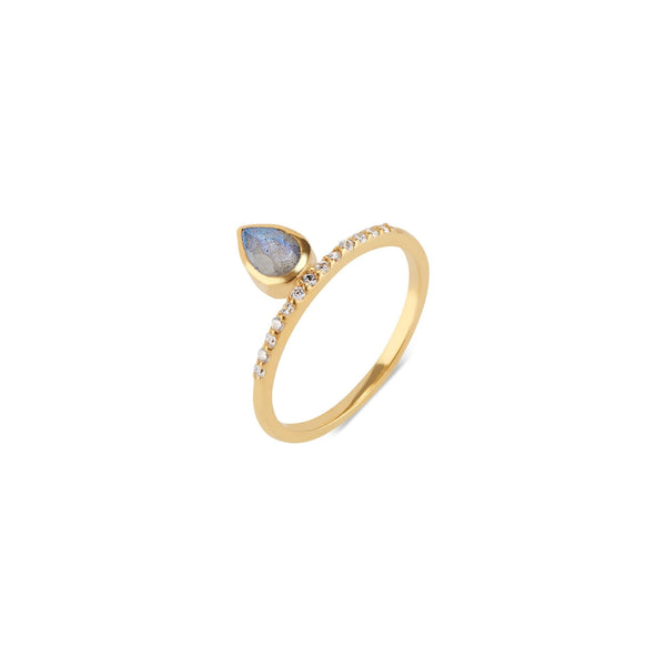 Molly Pave Floating Ring | Labradorite - elliparr