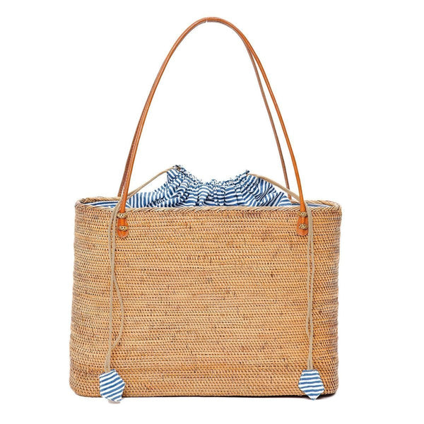 Nantucket Navy Stripe Harper Tote - elliparr