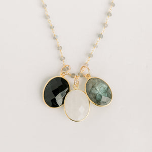 Olivia Statement Necklace | Multi Gemstone - elliparr