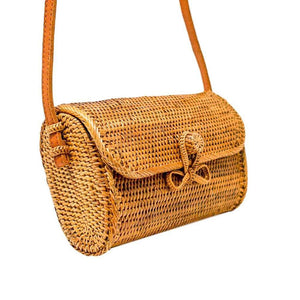 Pippa Straw Rattan Bag - elliparr