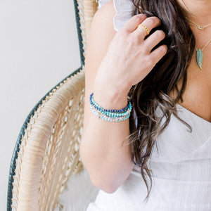 Posh Mini Beaded Bracelet | Amazonite - elliparr