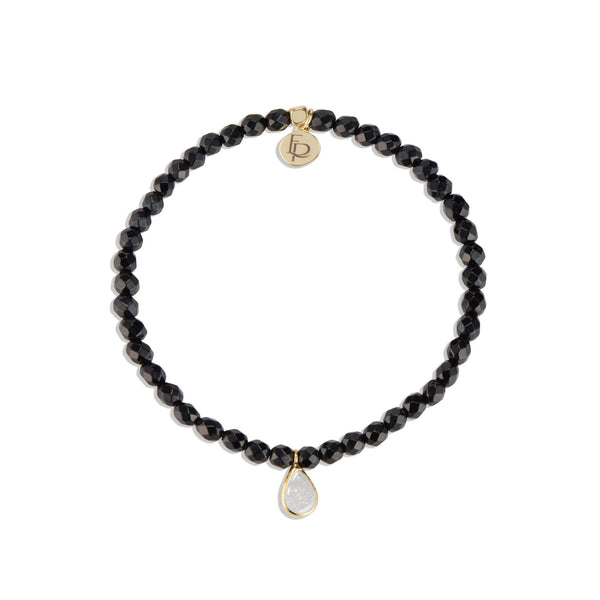 POSH MINI BEADED BRACELET | BLACK ONYX - elliparr