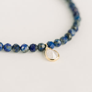 Posh Mini Beaded Bracelet | Lapis Lazuli - elliparr
