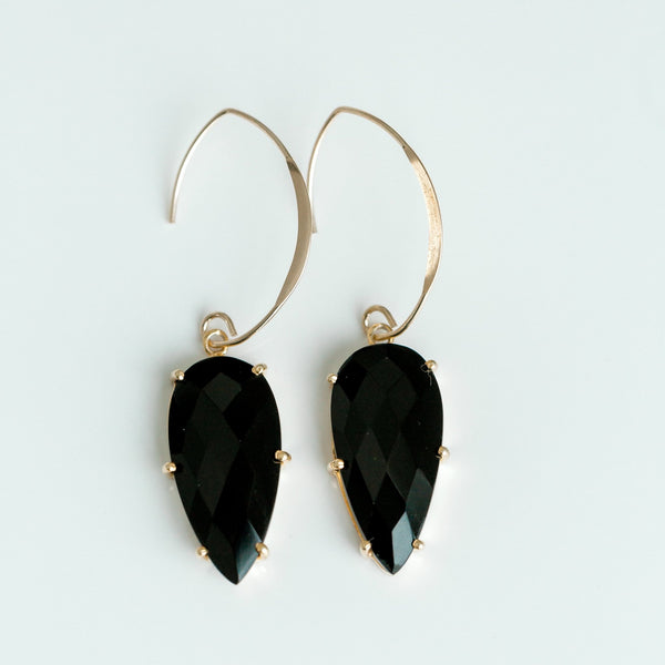 Prism Earrings | Black Onyx - elliparr