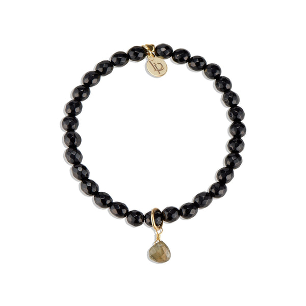 Royal Gemstone Beaded Bracelet | Black Onyx - elliparr