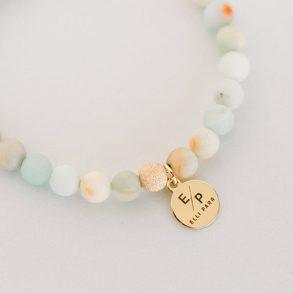 Signature Beaded Bracelet | Amazonite - elliparr