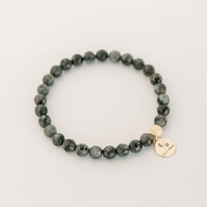 Signature Beaded Bracelet | Black Labradorite - elliparr