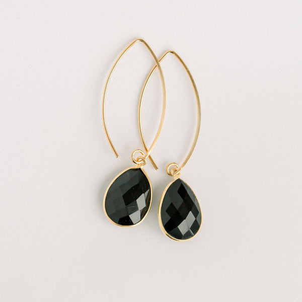Simone Marquis Earrings | Black Onyx - elliparr