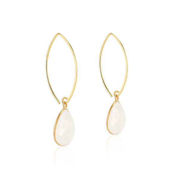 Simone Marquis Earrings | Rainbow Moonstone - elliparr