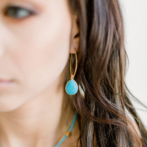 Simone Marquis Earrings | Turquoise - elliparr