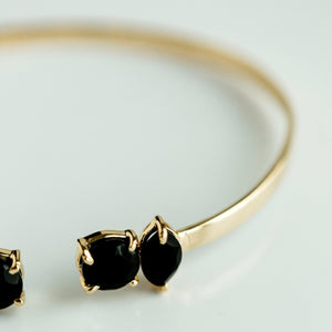 Sydney Bangle | Black Onyx - elliparr