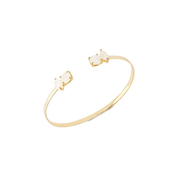 Sydney Bangle | Rainbow Moonstone - elliparr