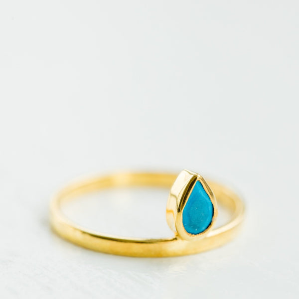 Teri Floating Ring | Turquoise - elliparr