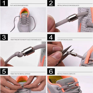 No tie shoelaces for kids adults and runners - how to install