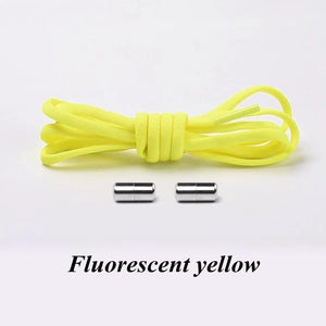 No tie shoelaces for kids adults and runners Lemon yellow