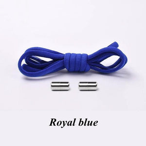 No tie shoelaces for kids adults and runners Royal blue
