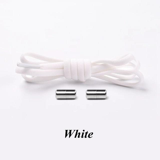 No tie shoelaces for kids adults and runners White