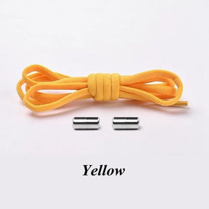 No tie shoelaces for kids adults and runners Yellow