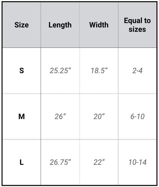 womens t-shirt sizing chart