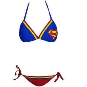 Superman Bikini Top and Bottom for adults