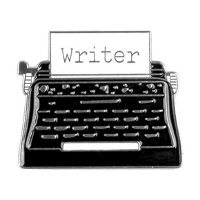 Typewriter Writer Enamel Pin / Brooch