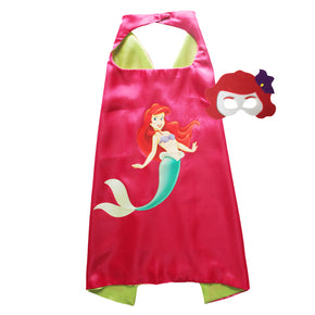 The Little Mermaid Cape and Mask: Ariel