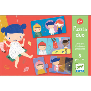 Djeco Puzzle: Emotions (3y+, 8 duo puzzles)