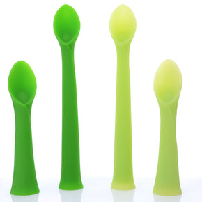 Bamboo Leaf Silicone Feeding & Training Spoon Set