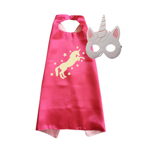 Unicorn Cape & Mask: Fuchsia