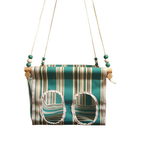 Turquoise Baby and Toddler Canvas Swing