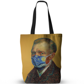 Artists wearing masks Shoulder Bag  (Van Gogh, Kahlo, Picasso, Klimt, Dali)
