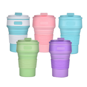 Eco-friendly Collapsible Silicone Mug (Solid Colour)