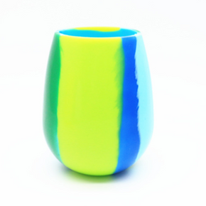 Spring Blue Silicone Glass (Single Glass) IN STOCK