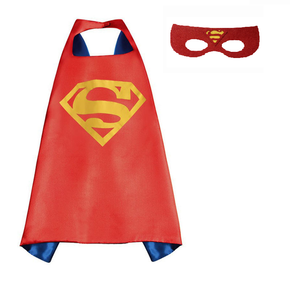 Red Superman Cape and Mask