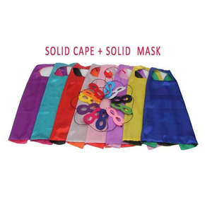 Red/ Blue Superhero Cape & Mask (Blank & Double-Sided)