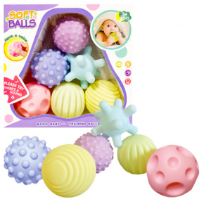 6pc Textured Soft Balls