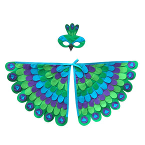 Peacock Wings and matching felt mask