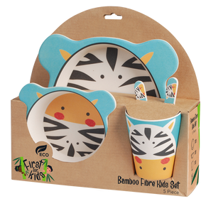 Zebra Bamboo 5 Piece Dinner Set