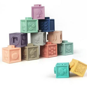 SHIPPING 15/08 3D Silicone Building Blocks (12pc Set)