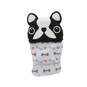 Gummy Glove Teething Mitten Boston Terrier