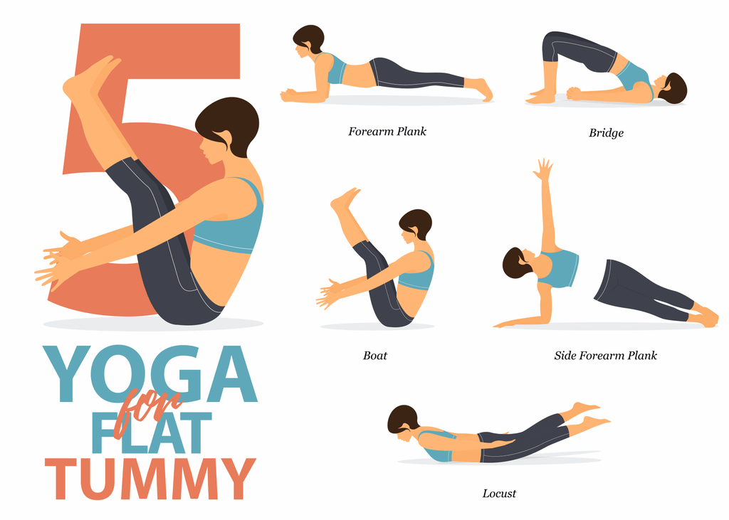 5 Yoga Poses To Keep Your Tummy Flat During Isolation