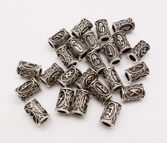 Viking Rune Dreadlock Beads - Hippie Hut
