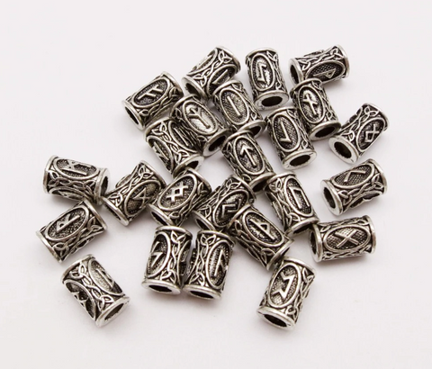 Viking Rune Dreadlock Beads