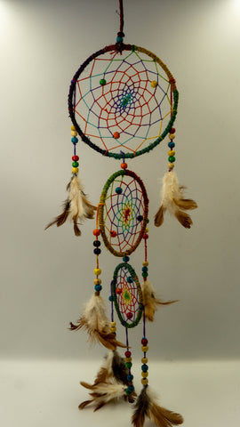 Three Piece Hemp Dream Catcher