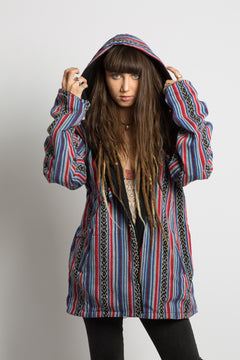 Handmade Stripped Nepalese Jacket - Hippie Hut