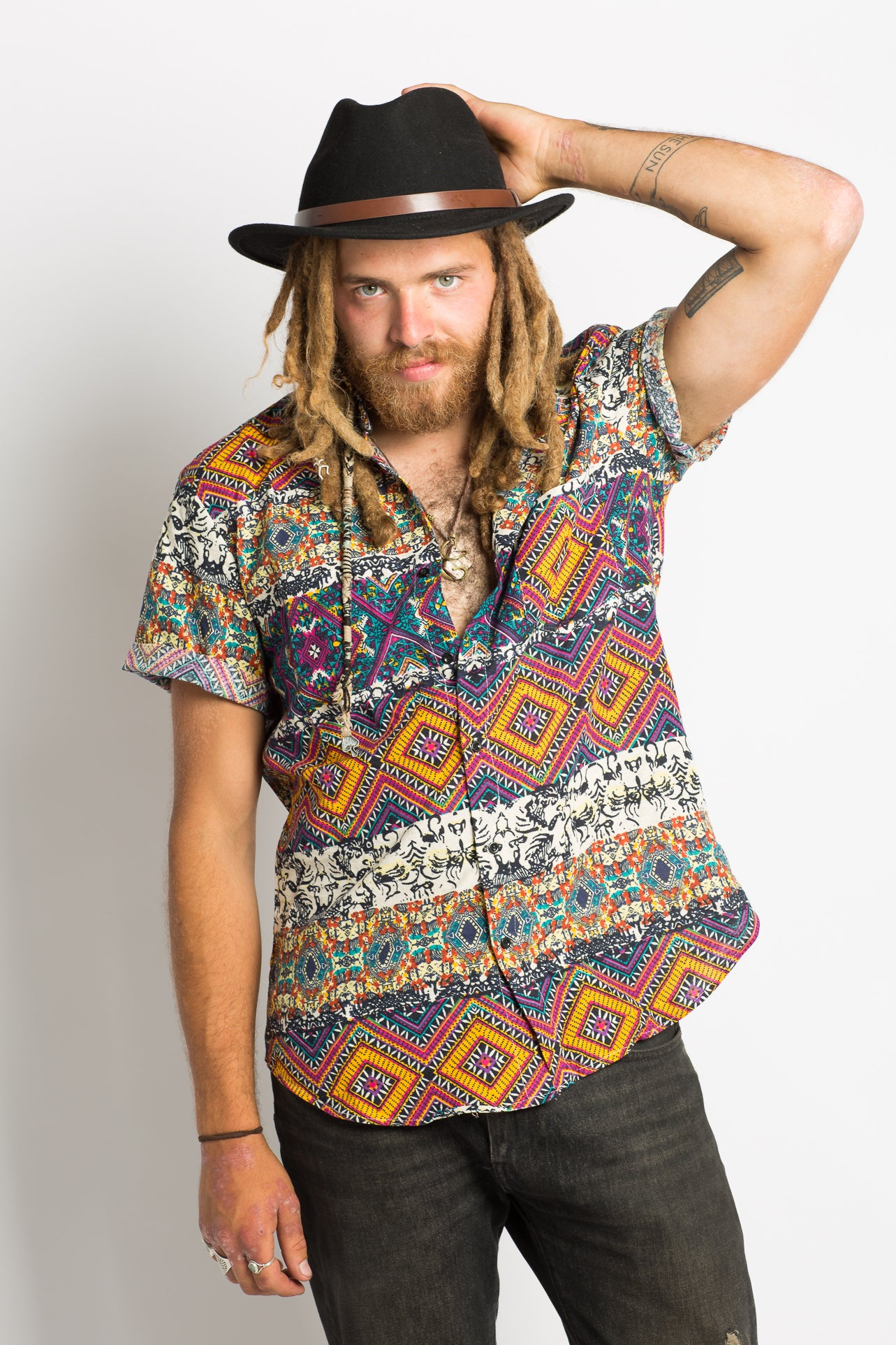 Patterned Hippie Shirt