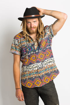 Patterned Hippie Shirt - Hippie Hut