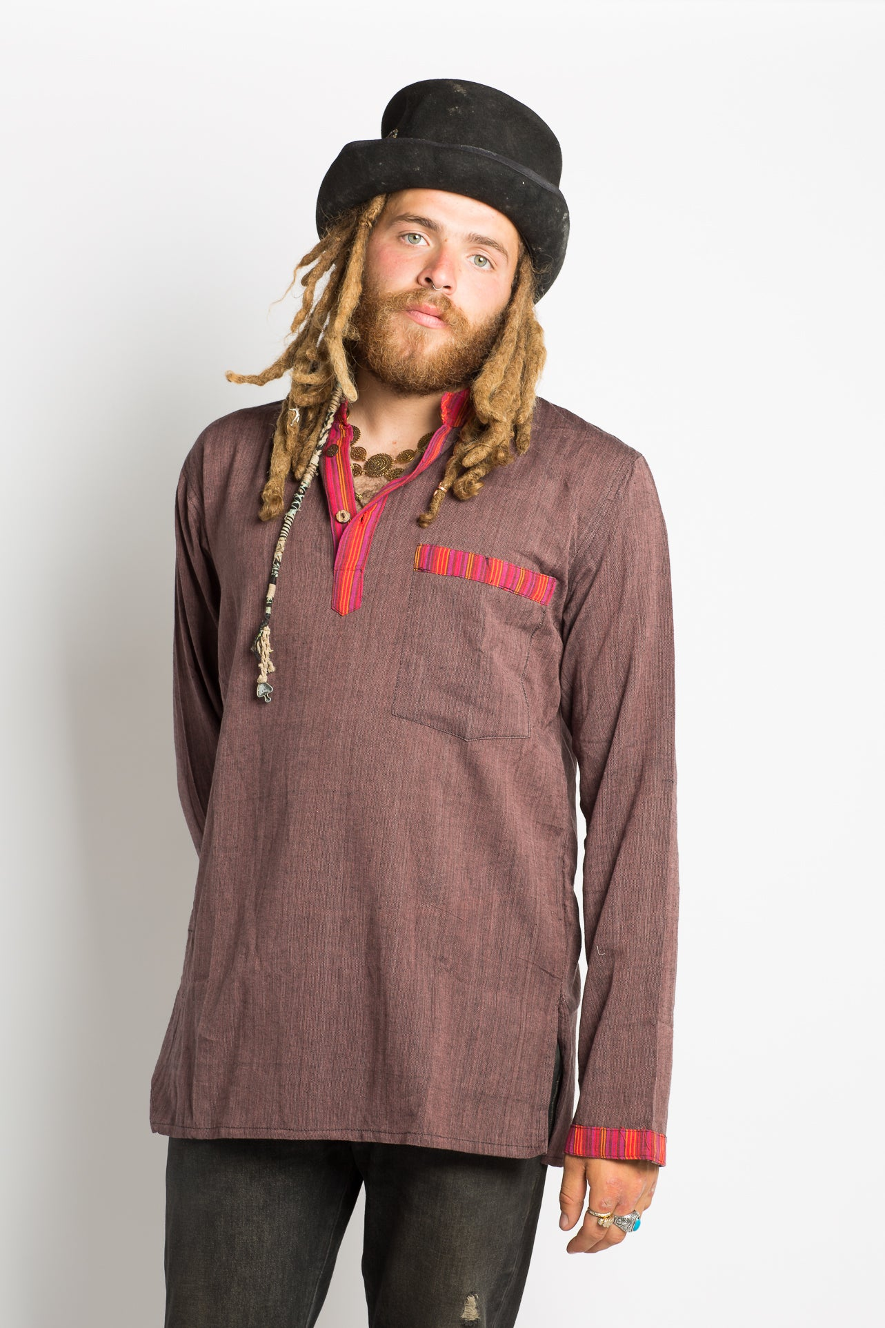 Handmade Earthy Red Nepalese Shirt