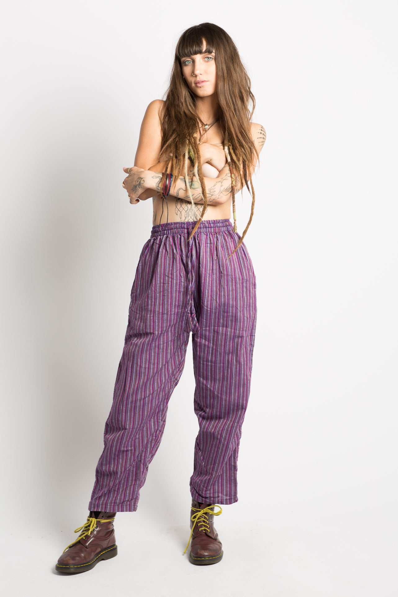 Handmade Nepalese Striped Hippie Pants